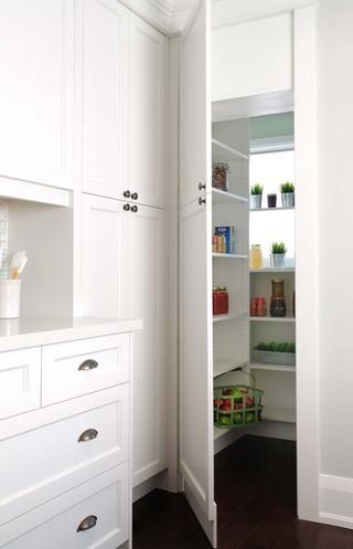 现代简约风格厨房酒店公寓客厅简洁收纳柜效果图
