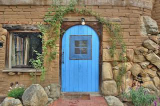现代田园风格一居室浪漫婚房布置入门玄关图片