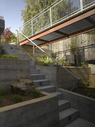 现代简约风格厨房小型公寓简洁别墅楼梯效果图