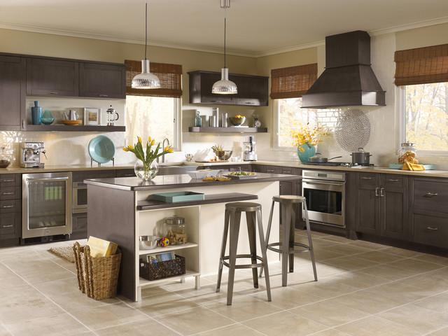 现代简约风格卧室loft公寓时尚整体厨房颜色设计图纸