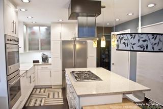 简约风格酒店公寓舒适开放式厨房客厅装修效果图
