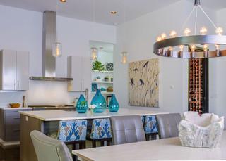 现代简约风格卧室200平米别墅豪华房子客厅与餐厅隔断效果图