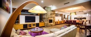 地中海风格3层别墅古典风格名牌布艺沙发图片