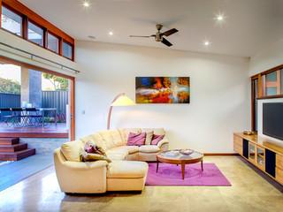 地中海风格卧室三层独栋别墅新古典家具名牌布艺沙发效果图