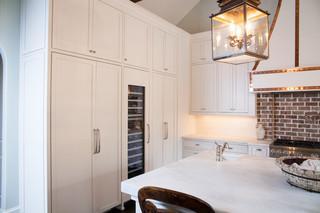 美式风格2层别墅时尚简约客厅快餐桌效果图