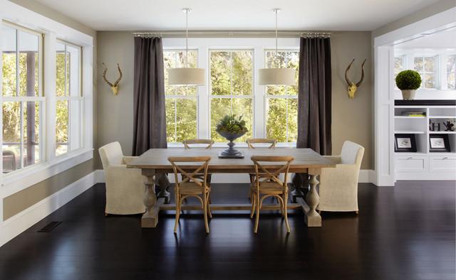 现代简约风格三层双拼别墅小清新红木家具餐桌效果图