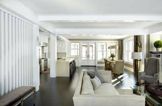 现代简约风格客厅三层双拼别墅小清新宜家沙发床图片