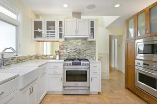 现代美式风格三层独栋别墅小清新2014家装厨房效果图