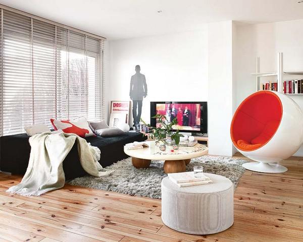 田园风格公寓可爱客厅效果图_齐家网装修效果图