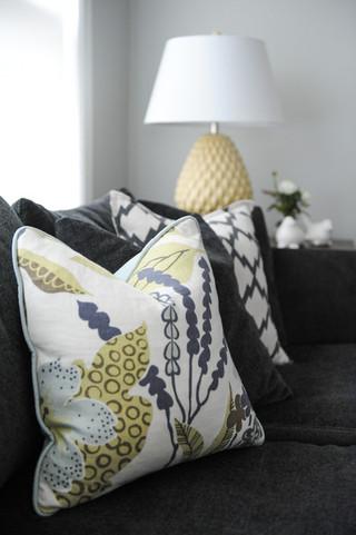 现代简约风格客厅2014年别墅大气实木沙发效果图