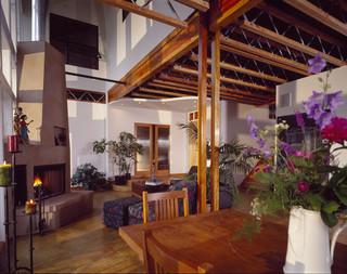 现代简约风格厨房一层别墅及时尚客厅宜家椅子图片