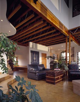 现代简约风格3层别墅时尚简约品牌布艺沙发效果图