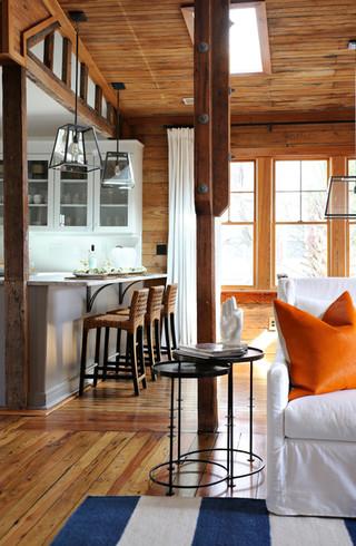 新古典风格三层独栋别墅古典中式客厅实木沙发客厅图片