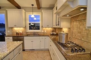 美式风格一层别墅现代时尚客厅5平方厨房装修效果图