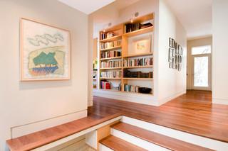 美式乡村风格一层别墅舒适书房隔断效果图