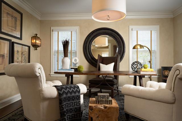 新古典风格客厅一层别墅大气实木沙发客厅效果图