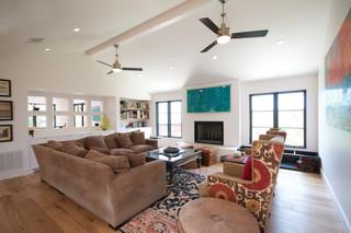 混搭风格客厅2层别墅稳重中式沙发效果图