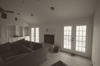 混搭风格一层半别墅稳重窗户效果图
