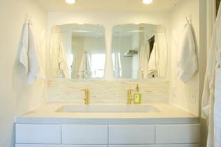 现代简约风格厨房一层别墅简洁卧室主卫改衣帽间装修图片