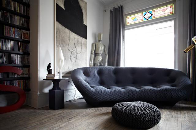 混搭风格三层别墅及实用实木沙发客厅效果图