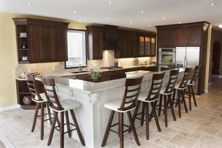 地中海风格客厅三层别墅及现代奢华宜家椅子效果图