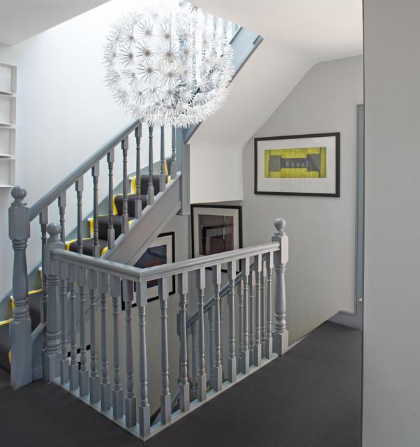 现代简约风格卧室三层半别墅时尚简约室内楼梯设计图纸图片