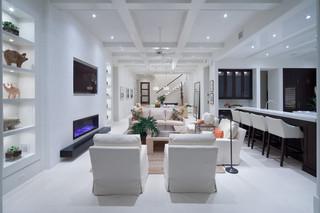 现代欧式风格200平米别墅大气两用沙发床图片