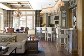 美式风格客厅2013别墅稳重2014客厅窗帘装修效果图