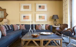 美式风格300平别墅稳重多功能沙发床效果图