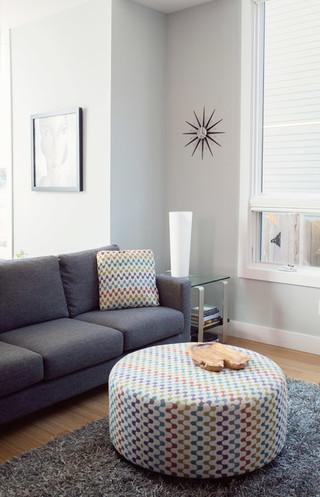 现代简约风格卫生间三层双拼别墅大气品牌布艺沙发效果图