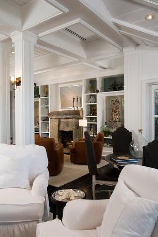 北欧风格三层独栋别墅时尚室内实木沙发客厅效果图