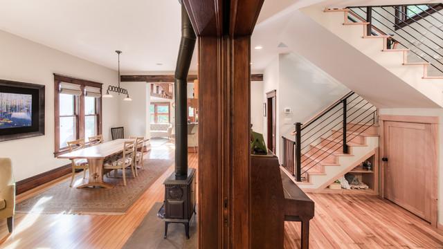 现代简约风格卧室一层半小别墅大气复式楼楼梯装修图片
