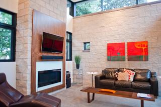 美式风格三层平顶别墅大气2013客厅效果图
