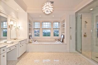 地中海风格卧室三层小别墅中式古典风格主卫生间效果图
