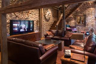 北欧风格一层半别墅时尚家居客厅沙发效果图