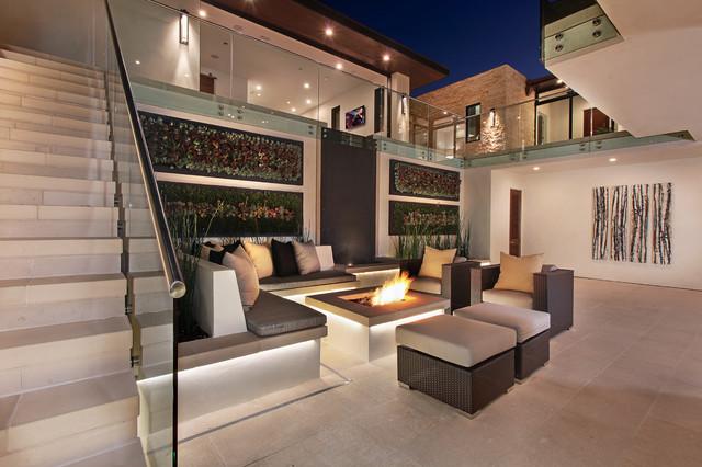 现代欧式风格三层别墅奢华复式楼楼梯装修图片