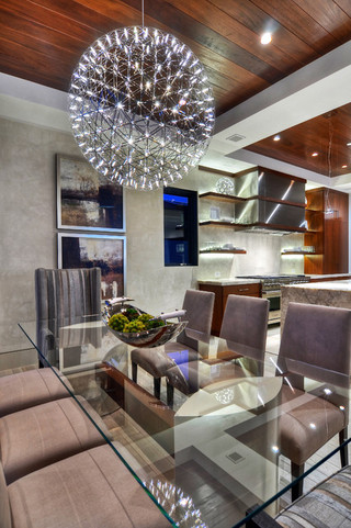 现代欧式风格三层平顶别墅奢华真皮沙发效果图