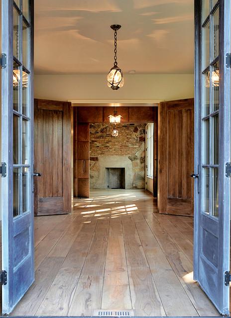 现代美式风格三层别墅及大气入门玄关设计图