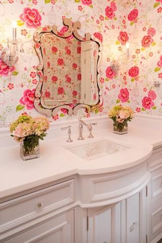 东南亚风格2层别墅可爱房间浴室柜效果图