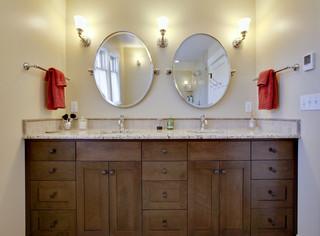 欧式风格别墅温馨浴室柜效果图