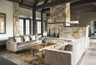 北欧风格三层半别墅新古典单人沙发床图片