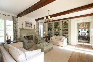 现代美式风格200平米别墅简洁三人沙发图片