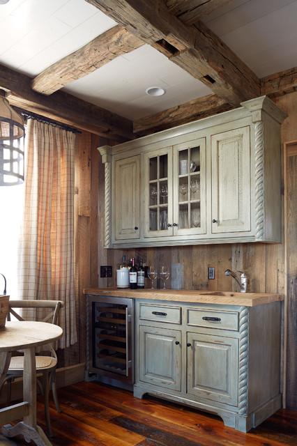 美式风格卧室单身公寓厨房中式古典橱柜设计