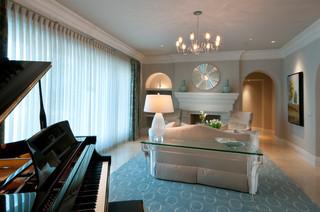地中海风格客厅2013别墅浪漫婚房布置宜家沙发床图片