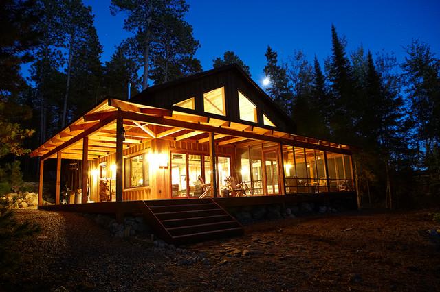 家居图册 湖边野营的温馨舒适小木屋 美式田园风格,别墅装修,温馨图片