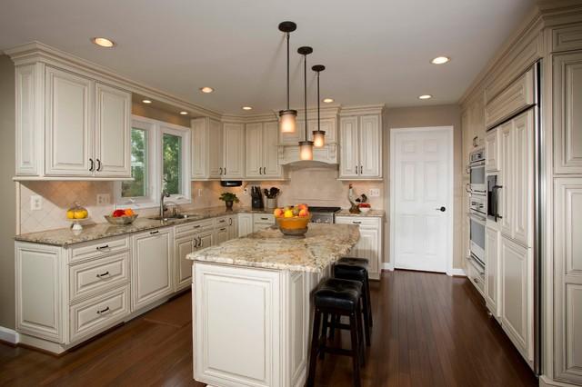 新古典风格老年公寓新古典卫生间开放式厨房客厅效果图