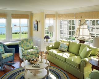 美式风格客厅三层小别墅小清新名牌布艺沙发图片