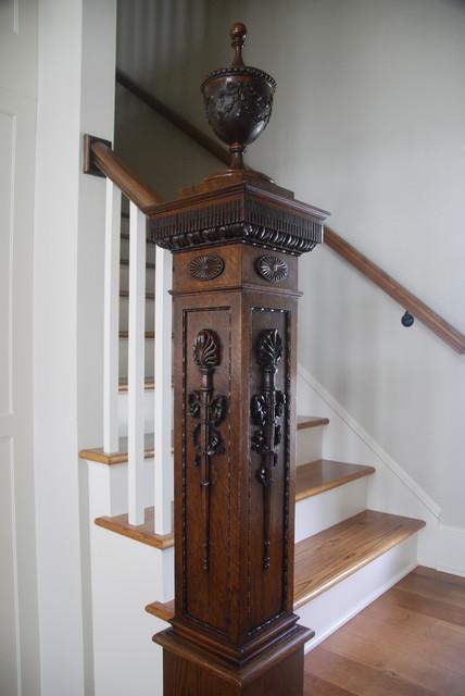 美式风格卧室200平米别墅浪漫卧室复式楼梯设计图