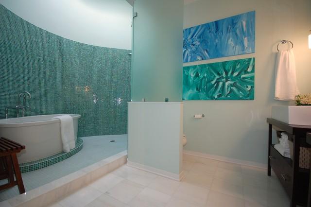 东南亚风格老年公寓小清新卫生间浴缸效果图