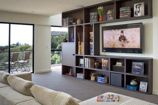 现代欧式风格300平别墅奢华家具阳台书架图片
